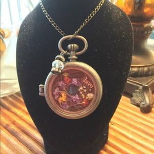 Pocketwatch Love pendant